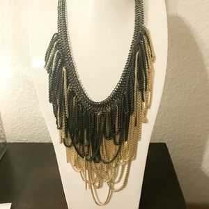 Margot Necklace - Gold/Gunmetal